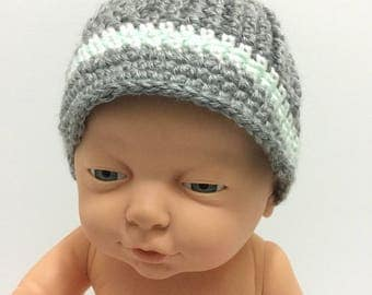 Boys beanie, newsboy hat, newborn to adult sizes, made to order