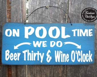pool signs, pool decor, pool party, pool decorations, beer thirty, beer theme, beer sign, pool beer sign, pool time, on pool time, 283/296