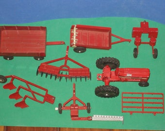 Vintage ERTL Diecast Metal Toy Tractor & Farm Equipment Lot
