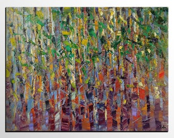 Large Painting, Modern Art, Original Painting, Canvas Art, Abstract Painting, Large Art, Abstract Wall Art, Modern Art, Birch Tree Painting