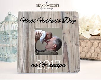 First Father's Day as Grandpa, New Grandfather gift, Grandpa Frame, Papa Gift, Father's Day Papa frame gift, New Grandfather Gift