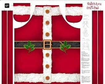Santa Apron Panel By Quilting Treasures-Christmas-Santa Claus