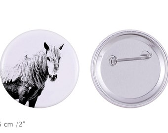 Buttons with a horse -Giara horse