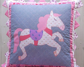 Claire Turpin Designs - Pony Parade Cushion - Sewing Pattern - Applique Pattern