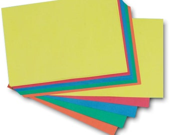 Recycled A4 Brite Card 285gsm Five Bright Colour Craft Card Stock Choose Quantity