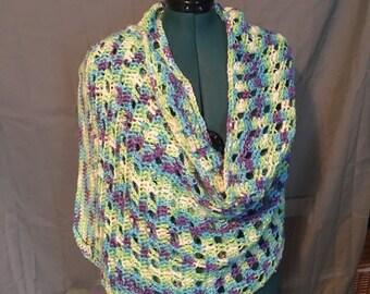 Variegated wrap shawl