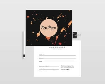 Gold ink double sided gift certificate template - Instant download