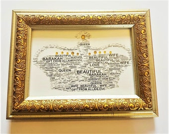 Gold Framed Gift for your Wife