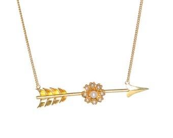 Vintage Arrow Necklace