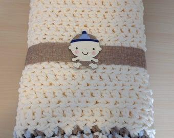 Crochet Baby Blanket Afghan - Free Shipping