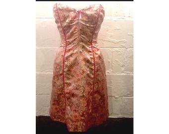 90's Betsey Johnson dress - Size 6 dress - vintage designer dress - Medium Betsey Johnson dress - pink party dress - strapless dress size 6