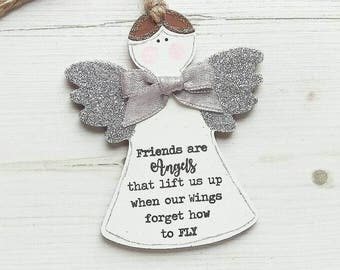 Friendship gift, Gift for friend, Friends are Angels, Best friend gift, Christmas gift, friend Christmas gift, Friend birthday gift