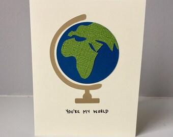 You're My World - Globe Valentine's Day Card