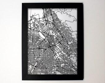 San Jose California Laser Cut Map, San Jose CA Street Map, San Jose Gift, San Jose Wall Art, San Jose Decor, San Jose Print