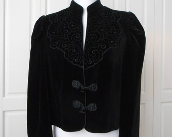 Velvet jacket in black vintage