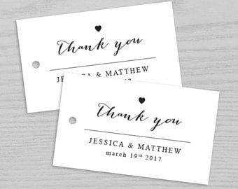 Thank you Wedding Tag, With Thanks wedding tag, Thank you tag, Favor Tags, Favor Tag, Wedding Favor Tag, Gift Tag Digital Printable TAG008