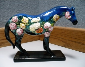 12289 - NIGHT FLOWER (Retired) 1E/2334 (Trail of Painted Ponies) Peonies