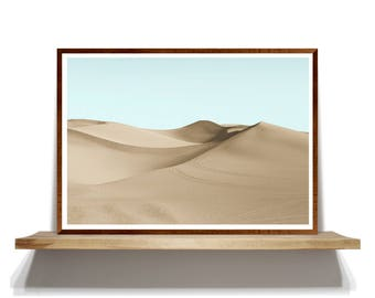 Beige Desert Photography Wall Art, Beige Art Prints, Desert Photography, Desert Art Prints, Beige Desert Poster, Colored Prints