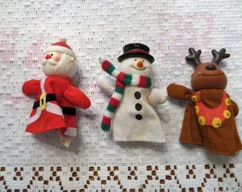 Christmas Finger Puppets - Set of 3