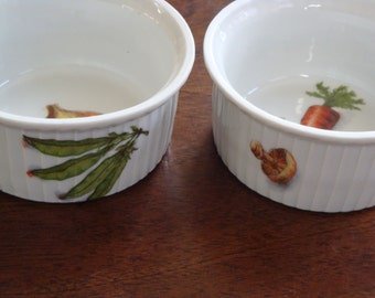 Couleuver Limoges French Ramekin Custard or Pot du' Creme Cups (2)!