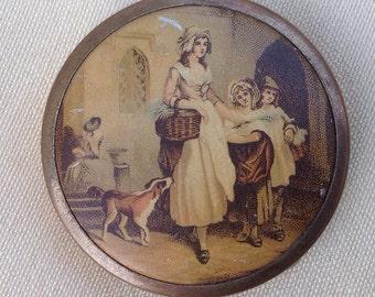 SOLDVintage powder compact Yardley lavender seller 1920's compact handbag mirror compact Yardley compact convex mirror 1930's compact