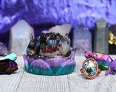 Orgone Lotus - Orgone Ring - Custom - Handmade - Lotus Flower - Crystal Lotus - HoodXHippie - Good Vibes - Reserved for @yecaldaniels
