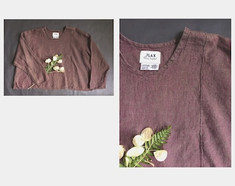 Flax Linen Boxy Top