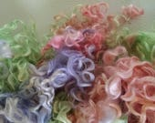 Teeswater Locks - Curls - Hand Dyed Locks - Spinning - Doll Hair - Felting - Lockspinning - Wool Locks - Troll Hair - Blythe - Locks - Hair