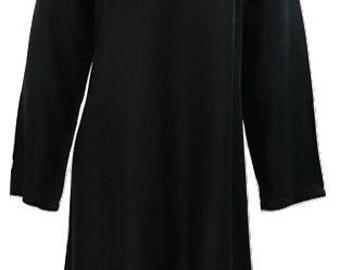 Plus size hippie boho summer asymmetric hem embroidered v-neckline tunic dress