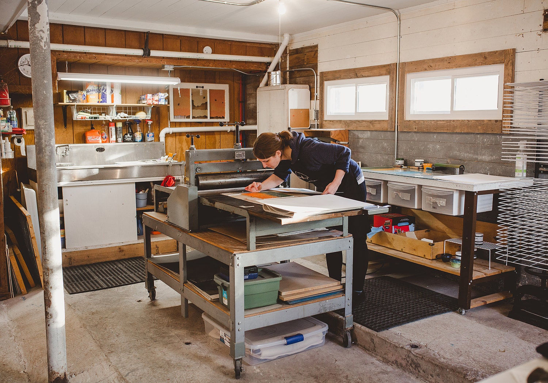Conrad Dickerson printing press