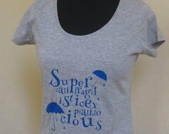 disney mary poppins Supercalifragilisticexpialidocious women t-shirt