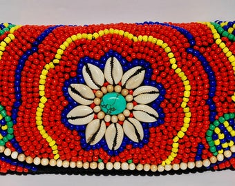 Hand Made Beaded Designer Clutch