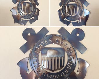 US Coast Guard Logo Metal Wall Art Decor