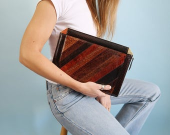 Amazing Genuine Vintage Snakeskin Clutch/Folio