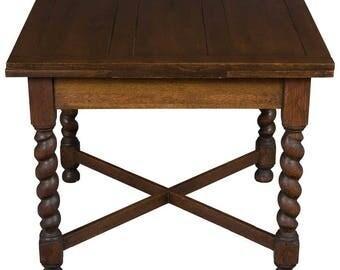 Antique English Oak Draw Leaf Pub Table