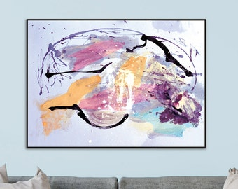 Large Abstract painting, Printable Abstract Art, Instant Download Art, Modern Art Prints, hand painted A1 Size print, Large Landscape art