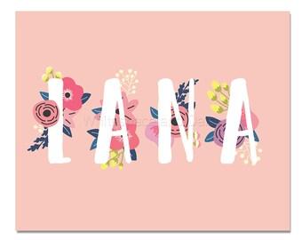 Lana Baby Name Wall Art Lana Baby Name Sign Lana Party Printable Lana Party Decorations Lana Art