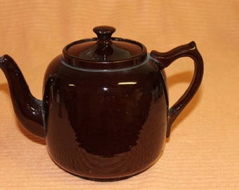 Brown Ceramic tea pot made in England