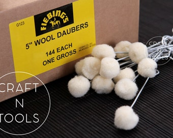 Wool Daubers Fiebing For Leather Dyeing/Wool Applicator/Dye Applicator/Wool Brush/Finish Applicator