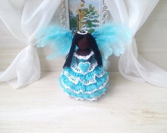 crochet angel, angel ornament, guardian angel, angel statue, name angel, angel amigurumi, angel toy, angel for a child. Christmas angel