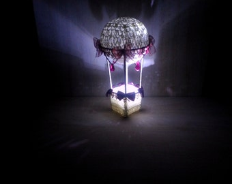 Hight light baby,Crochet lamp, crochet bed side lamp, gift for Valentine's Day. Glow in the dark toy, openwork bed side lamp, crochet ball