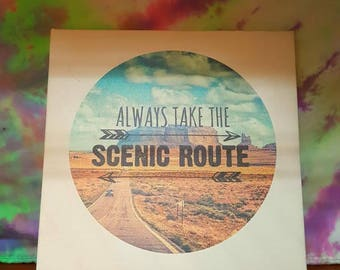 Always Take the Scenic Route Wall Hanger
