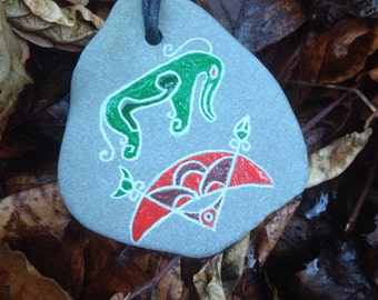 Crichie Pictish Pendant hand carved on slate.