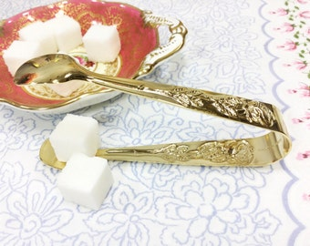 Rose Gold Plated Sugar Tongs For Weddings, Parties, Tea Time, Gift #