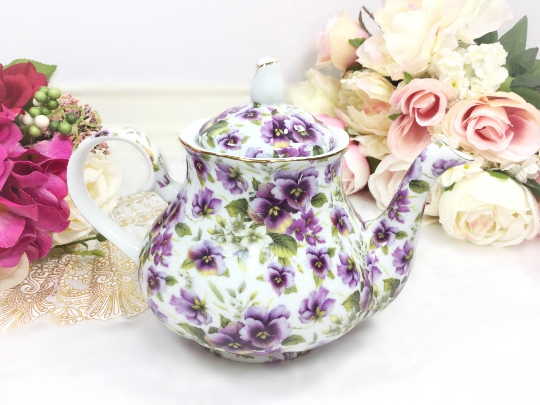 Purple pansy teapot purple floral porcelain teapot for tea set gallery photo gallery photo gallery photo gallery photo gallery photo reviewsmspy