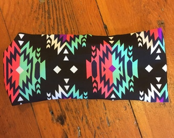 Aztec Headband, Tribal Headband, Colorful Headband, Printed Headband, Summer Headband, Aztec Spandex Headband, Tribal Spandex headband
