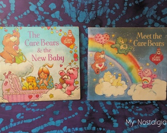 80's Book ~ Care Bears Books ~ Meet the Care Bears ~ The Care Bears & the New Baby ~ 1983 ~ Paperback Books ~ Toddlers ~ My Nostalgic Life