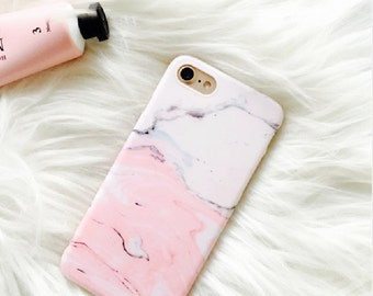Pink case. Marble case.iPhone 7 Plus case.iPhone 7 case.Marble iPhone 7 Plus case.Soft iPhone 7 Plus case.Marble iPhone 7 case.iPhone case
