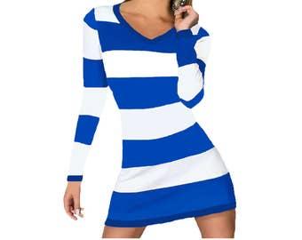 Blue + White Stripe Spirit Dress