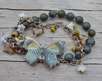 Scorched Earth butterfly bracelet - DayLilyStudio